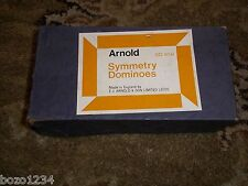 RARE VINTAGE ARNOLD SYMMETRY WOOD DOMINOES SD #656 MADE IN ENGLAND ORIGINAL BOX