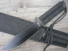Schwarzes Gürtelmesser Taschenmesser Anglermesser Outdoormesser Arbeitsmesser