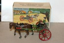 VINTAGE BRITAINS FARM HORSE RAKE NO. 8 F with DRIVER  in BOX