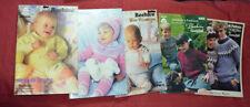 Paton's Vintage Knitting Books Babys, Children & Adult Knitting Lot of 5 Books