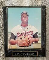 FRANK ROBINSON SIGNED Autograph 8X10 PHOTO BALTIMORE ORIOLES Plaque COA HOF