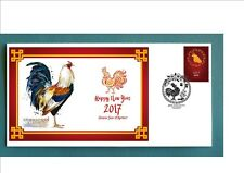 2017 YEAR OF THE ROOSTER SOUVENIR COVER-AMERICAN GAME ROOSTER