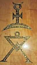 Unusual Brass Symbol Wall Hangings