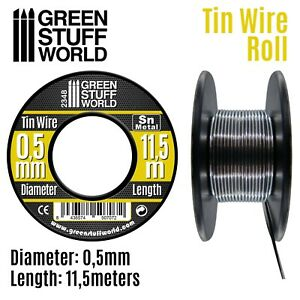 Flexible tin wire roll 0.5mm - Miniatures Bases cable wire pipeline Warhammer