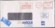 Netherlands 1987. Airmail cover to Czechoslovakia. Meter Mark. 'Postcode' label.