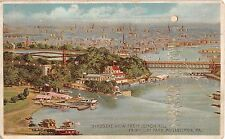 c.1910 Hold to Light BEV from Lemon Hill Park Philadelpia PA post card Koehler