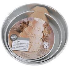 Wilton Decorating Cake Perforance Pans Set of 4 ROUND  PAN SET 8-10-12-14 x 3