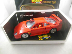 Burago Collection Cod 3032 1987 Ferrari F40 in Red 1:18 Scale