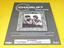 CHAIRLIFT - Publicité de magazine / Advert SOMETHING !!!