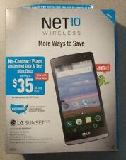 "NET10 LG Sunset L33L 4.5"" 8GB 4G LTE Android Prepaid Smartphone-Black"