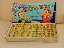 Vintage Display Lot of 70 Kids Dime Store Enamel Faux Jewel Fashion Finger Rings