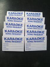 Karaoke request slips Blue 10 pads x 100 slips = 1000 slips FREE 1st class P&P