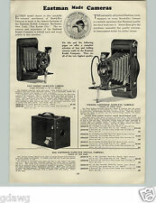 1928 PAPER AD 3 PG Eastman Kodak Folding Hawk-Eye Special Camera Cameras Box
