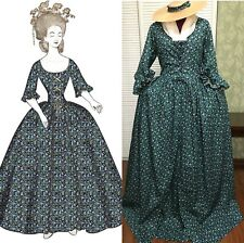 Marie Antoinette Robe a l'Anglaise Polonaise Cosplay Costume Dress Cotton D