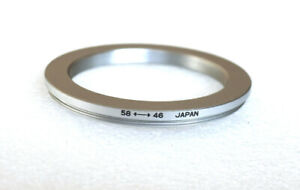 58-46mm SILVER Step-Down Ring Adapter - 58mm-46mm Stepping Ring - Japan - NEW