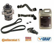 BMW E46 Cooling System Kit Water Pump Thermostat Hoses Belt Antifreeze Gallon