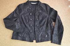 Toller Offener leichter Blazer Blusenjacke Jacke Struktur schwarz Gr. 48 - Neu!
