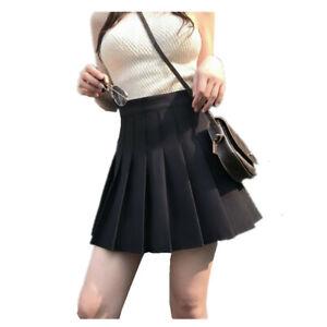 Expédié de Paris - Jupe Plissé Noir Écolière Japonaise Uniforme Cosplay XS A 3XL