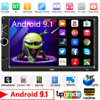 "Navegación GPS WiFi 7"" 2Din Quad Core Car Stereo Android 9.1 MP5 Player Radio FM"