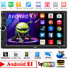 """Navegación GPS WiFi 7"""" 2Din Quad Core Car Stereo Android 9.1 MP5 Player Radio FM"""
