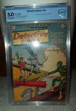 DC COMICS DETECTIVE 181 Cbcs cgc 5.0 Batman 1952 golden age 1st Human Magnet app