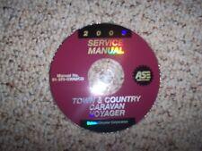 2003 Dodge Caravan Shop Service Repair Manual SE Sport 2.4L 4 Cylinder 3.3L V6