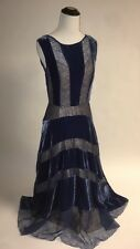 NWT SZ 6 $498 Anthropologie Velvet Frost Dress by Tracy Reese Fit And Flare Blue