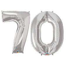 Globos de fiesta color principal plata número de cumpleaños infantil