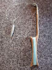 Early Fishing Wooden Drop Line Wood Pole Nautical