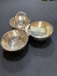 Williams-Sonoma Condiment Bowl-Silver Plated Brass-Approx 8x5-NWT