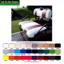 E-Z-Go TXT Golf Cart Custom Front Seat Cover Set - 2 STRIPE STAPLE ON