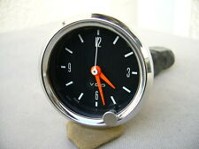 VDO Uhr Quarz Chromring Opel Manta Kadett Rekord Youngtimer 52 mm Oldtimer Uhr