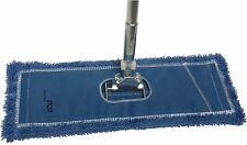 "Dust Mop Kit: 24"" Blue Industrial Microfiber Dust Mop, Wire Frame & Handle"