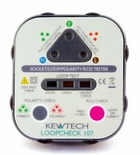 Kewtech LoopCheck 107 & Voltick VLT1 Loop Socket Testers With RCD Test Built-in