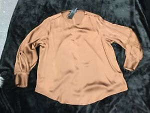 M&S Autograph Shirt Blouse BNWT Size 18 Bronze Colour
