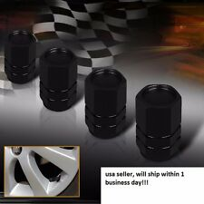 JDM Hex 4 X Black Wheel Air Valve Stem Cap Car Truck Bike Tire Screw Dust Cover