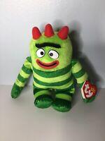 "Ty Beanie Babies Yo Gabba Gabba! BROBEE 6"" Plush Stuffed Animal"