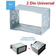 2 DIN Universal Car Stereo Radio Fascia Dash Panel DVD Player Install Frame Kit