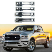 Door Handle Covers Fit For 2019-2021 Dodge Ram 1500 NO Smart Keyhole Chrome ABS