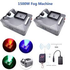 2X 1500W DMX Nebelmaschine Bühnenlicht RGB LED Rauch Fernbedienung Upspray Nebel