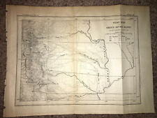 1877 Sketch Map Showing West Side of Green River Basin Northern Portion