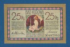ALEMANIA // GERMANY -- NOTGELD -- BAD KUDOWA -- 25 PFENNIG ND -- aUNC