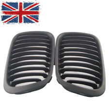 Pair Matte Front Grilles Grill For BMW(R) E46 Saloon 3 series 98-01 Pre-facelift