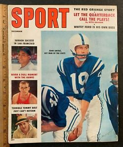 1958 DECEMBER VOL 26 #6 SPORT MAGAZINE JOHN UNITAS COVER FREE S&H (AA)