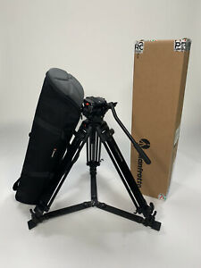 Manfrotto 501 hdv video head with manfrotto 525mvb two stage tripod plus bag