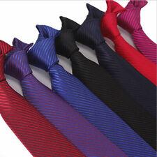 Men's Striped Slim Tie Formal Wedding Thin Narrow Skinny Woven Silk Ties Necktie