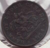 1854 -  Bank of Upper Canada - Dragon Slayer - ½ Penny - Superfleas - PC-5C1