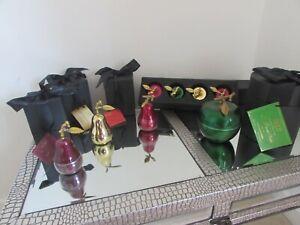 D L & Co rare collectable La Poire small aubergine pear in presentation box BN
