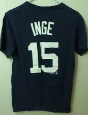 DETROIT TIGERS small T shirt Brandon Inge tee #15 Olde English D logo Majestic