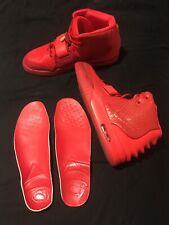 Red October Shoes Sz. 11 Premium Materials Leather Suede Mesh Designer Signed